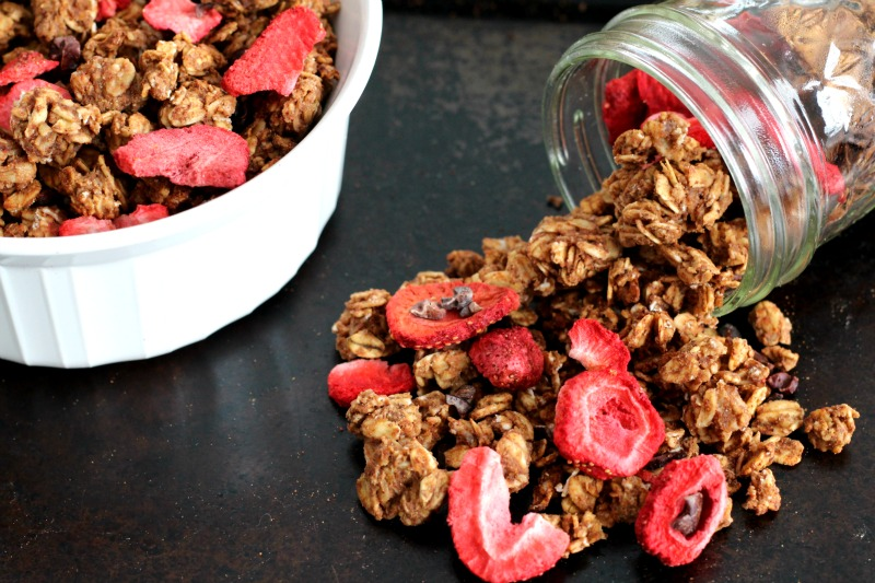 Chocolate Strawberry Granola