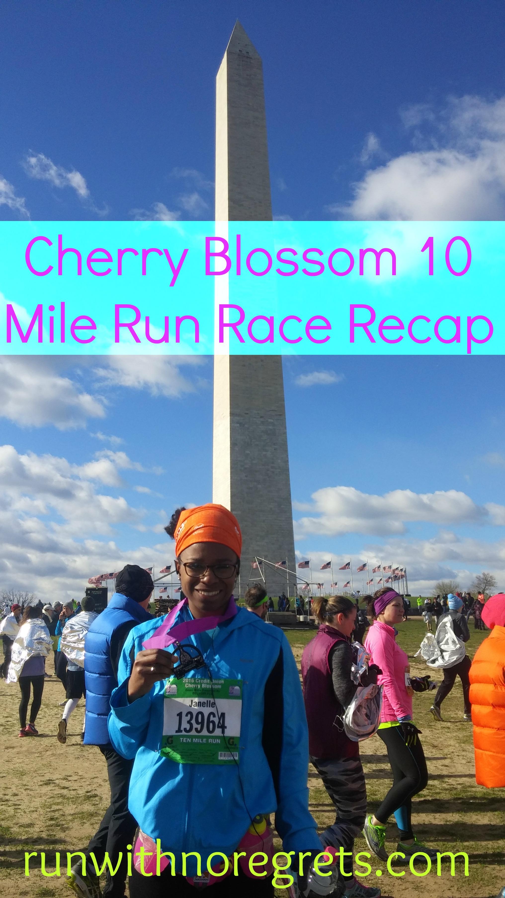 2016 Cherry Blossom 10 Miler Race Recap | Run With No Regrets