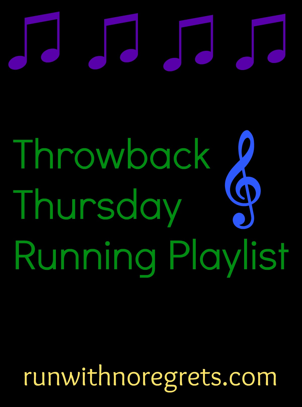 """Every month I share a """"throwback"""" music playlist perfect for heading out for a run! Check it out and more running resources at runwithnoregrets.com!"""
